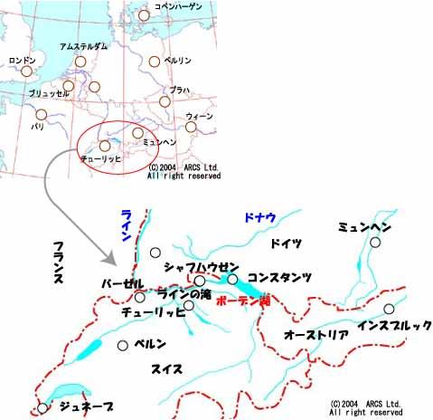ボーデン湖地図